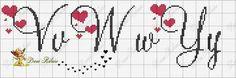 Darling Make Alphabet Friendship Bracelets Ideas. Wonderful Make Alphabet Friendship Bracelets Ideas. Cross Stitch Alphabet Patterns, Embroidery Alphabet, Cross Stitch Letters, Cross Stitch Borders, Cross Stitch Samplers, Embroidery Fonts, Cross Stitch Designs, Cross Stitching, Cross Stitch Embroidery