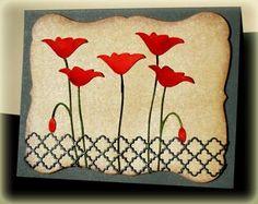 prim poppy and tessatine border