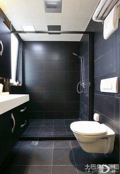 Bathroom Tiles Black jimmy schönning's bathroom | white bathrooms, black tiles and