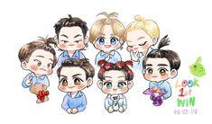 Lovely and Cute fan Art Kpop Drawings, Cartoon Drawings, Easy Drawings, Got7 Fanart, Kpop Fanart, Berlin, Fall In Luv, Jaebum Got7, Yugyeom