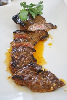 Three Day Marinated Skirt Steak with Smokey Tomato Butter...