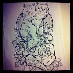 YES. WHO's GETTING THIS WITH ME? anthony flemming cat tattoo art