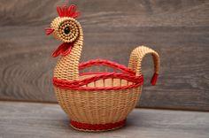 Плетение из газет Wicker Baskets, Straw Bag, Weaving, Decor, Craft, Puff Pastries, Decorating, Loom Weaving, Inredning