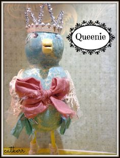 Queenie Mixed Media Blue Bird