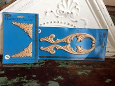 Wood Wooden Furniture Applique Pair Molding Scrolling leaves Unfinished by Holliezhobbiez on Etsy