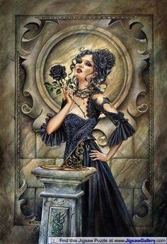 Black rose. Anne stokes art