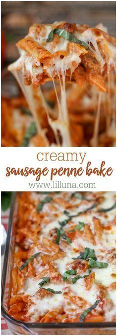 Creamy Sausage Penne