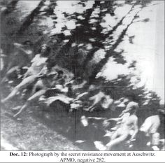 Jewish women naked and humiliated marching to their deaths.