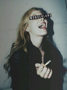 wonderland. smoking cigarettes