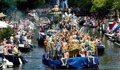 25 July - 2 August 2015, Canal Parade: Saturday, 1 of August 2014 from 1:30 P.M. The Gay pride festival presents an extensive programme with sports, cultural activities and parties. The highlight of the Amsterdam Gay Pride is the canal parade on 1 of August, which is a carnivalesque, cultural and slightly naughty boat parade through Amsterdam's canals. www.amsterdamgaypride.nl