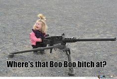 Little funny girl with a gun by nick. Little Fun - all about humor and fun! Walking Dead Season, The Walking Dead, Pedobear, Barbie, Thing 1, Thug Life, Girl Humor, Best Funny Pictures, Funny Pics