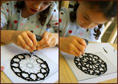 Having Fun at Home: Stained Glass: Kids Medieval Project