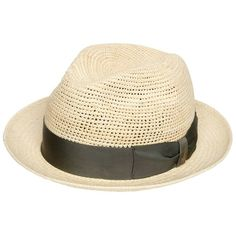 Borsalino Men Crocheted Medium Brim Straw Panama Hat (985 BRL) ❤ liked on Polyvore featuring men's fashion, men's accessories, men's hats, mens straw panama hat, men's brimmed hats, mens wide brim straw hat and mens straw hats