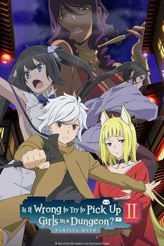 Dungeon ni Deai wo Motomeru no wa Machigatteiru Darou ka (TV Series ) - IMDb Anime Expo, L Anime, Otaku Anime, Kawaii Anime, Light Novel, Anime Love, Me Me Me Anime, Dungeon Ni Deai, Hestia Anime