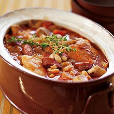 Cassoulet.  This looks easy to make & delicious to eat. What more could anyone wish for