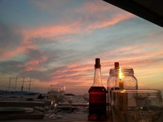 Sunset in Mykonos, Greece & Where to Eat & Drink in Mykonos. #seasatinmarketrestaurant #seasatimykonos #capriceofmykonos #summertime #traveldestinations #destinationsgreece #mykonosgreece #aegeansea #cyclades #greeceaesthetic Mykonos Greece, Windmill, Seattle Skyline, Landscape Photography, Summertime, Travel Destinations, Island, Marketing, Drink