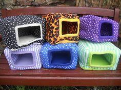 DIY+Ferret+Bed | ... : Guinea Pigs : guinea pig, rabbit or ferret fabric bed, The Sqube