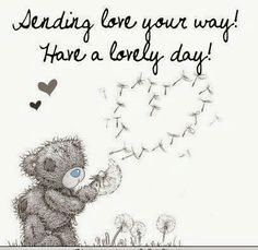 Love & hug Quotes : Sending love your way - Quotes Sayings Love Hug, Love Bear, Tatty Teddy, Cute Images, Cute Pictures, Hello Pictures, Teddy Bear Quotes, Hug Quotes, Time Quotes