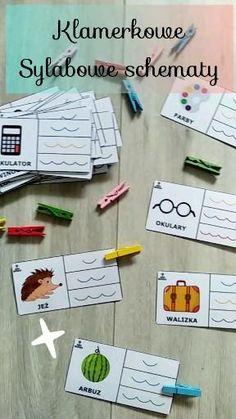#klamerki #naukaczytania #pomocedydaktyczne Montessori, Games, Gaming, Plays, Game, Toys