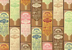 Dr Feelgood Ice Pops (esquimaux) | Design : Brandwagon & Todd Yonge, Auckland, Nouvelle-Zélande (septembre 2015)