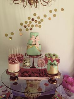 sweets table Mint#Pink#Gold