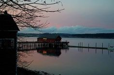 Sunset on Whidby Island, Wa by Cathy McNew Metscher
