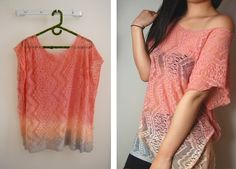 do it yourself lace shirt