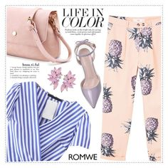 """Life in colors with romwe"" by wannanna ❤ liked on Polyvore featuring MANGO"