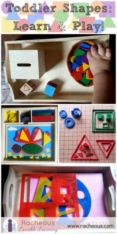 toddler shapes learn and play