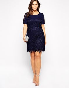 Lovedrobe Embroidered Shift Dress with Sweetheart Neckline