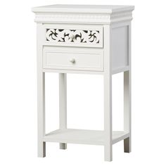 Amazon.com: Nagel End Table, Side Table, White: Home & Kitchen