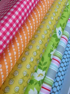 My favorites fabric bundle by Heather Bailey, Amy Butler, Riley Blake- 1/2 yard bundle- 6 total on Etsy, $30.00