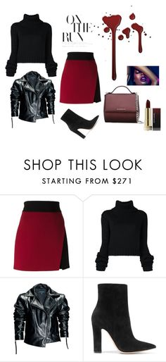 """""""Untitled #270"""" by hsimon0526 ❤ liked on Polyvore featuring FAUSTO PUGLISI, IO Ivana Omazić, Leka, Gianvito Rossi and Givenchy"""