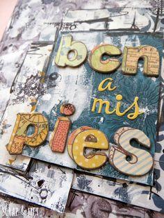 SCRAP & my favourite things: bcn a mis pies...un mini álbum
