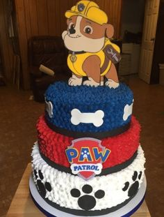 15 trendy birthday party ideas for kids paw patrol 4th Birthday Parties, Boy Birthday, Card Birthday, Birthday Ideas, Birthday Greetings, Happy Birthday, Bolo Do Paw Patrol, Torta Paw Patrol, Pastel Paw Patrol