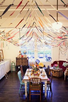 Vintage pieces and fabric scrap garlands | House of Fifty Mag