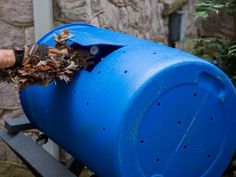 How to Build a DIY Compost Tumbler   HGTV Diy Compost Tumbler, Compost Tea, Kitchen Waste, Diy Kitchen, Threaded Fasteners, Tumbling Composter, Anaerobic Digestion, Composting 101