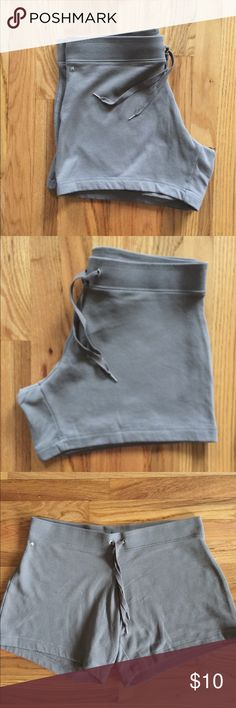 "Victoria's Secret Boyfriend Shorts EUC. Size is Large. Inseam is 5"". Color is Dark Taupe. Victoria's Secret Shorts"