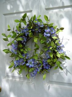 Summer Wreath  Cottage Chic Wreath   Door Decor by forevermore.  So light and airy!