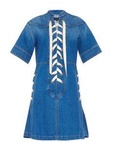 Gucci Lace-front denim dress