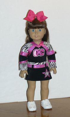 Custom Cheer Uniform for 18 Doll  Basic Uniform by SueSewsStuff, $65.00