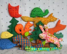 Big Meadow Set  Little Softies sewing pattern by maggierama, $14.00