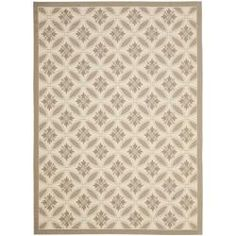 Shop for Safavieh Easy-care Beige/ Dark-beige Indoor/ Outdoor Rug (4' x 5'7). Get free shipping at Overstock.com - Your Online Home Decor Outlet Store! Get 5% in rewards with Club O! - 14074991