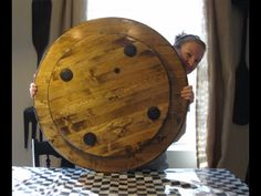 how to make a large wood lazy susan - YouTube Lazy Susan Table, Diy Lazy Susan, Dining Table Sizes, Dining Rooms, Farmhouse Table Centerpieces, Thing 1, Stain Colors, How To Distress Wood, Wood Projects
