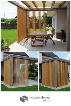 Beste Haus Markise Whilst early around thought, the actual pergola has been experiencing a modern-day Small Pergola, Outdoor Pergola, Backyard Pergola, Patio Roof, Small Patio, Backyard Landscaping, Outdoor Decor, Deck Patio, Porch Awning