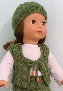 American Girl Doll Free Weekend Casual Girl Hat & Waistcoat by Jacqueline Gibb.