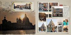 Barbara's Cre8ive Escape: Vacation Album | Venice, Italy (layout by Barbara Unzen)