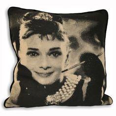 Audrey Hepburn Cushion - £12 | brandinteriors.co.uk