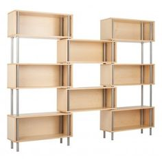 Beautiful bookcase from Blu Dot. Something like this would be nice to take up some wall space in the living room.