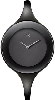 Watches:Calvin Klein Women's Quartz,Black Ion Plated Steel Bangle-Black Mirror Dial-